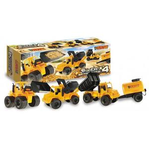 Set De Vehiculos Duravit Super Constructor X 4