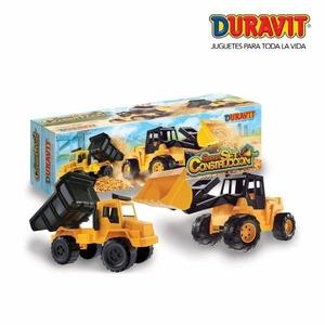 Set Constructor Excavadora Y Camion Volcador Gigante Duravit