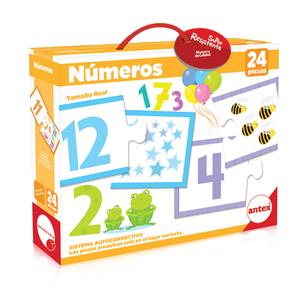 Valijas Numeros 24 piezas para encastrar con sistema autocorrectivo