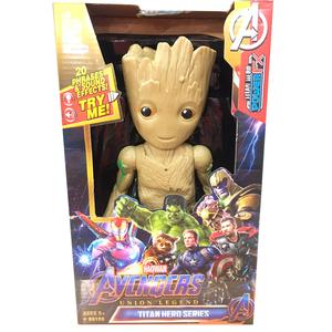 Muñeco Avengers Articulados Sonido y Luz 28 cm Groot