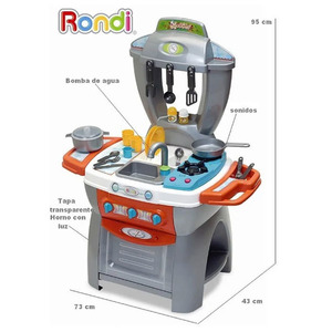 Cocina Rondi Maxi Chef Bomba Agua Luz Sonido Accesorios