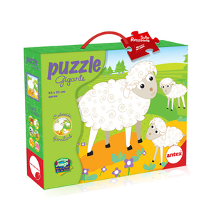 Puzzle 9 piezas Animales Surtidos con Carton Super Resistente