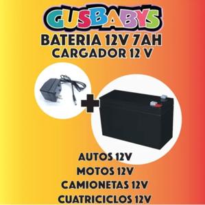 Combo Cargador 12v + Bateria 12v Autos Camionetas Motos