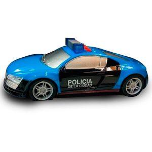 Auto Policia de la Ciudad Audi a Fricción Luces y Sonido