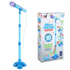 Microfono Individual con Pie Luces y Sonidos con Entrada de MP3
