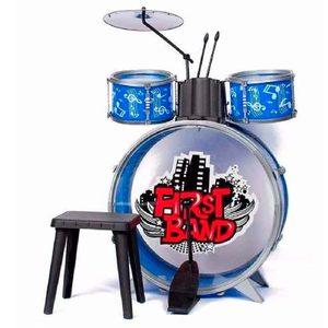 Bateria Musical 3 Cuerpos First Band con Banquito