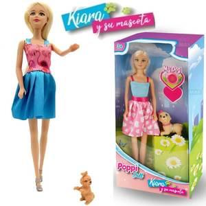Muñeca Kiara Y Su Mascota