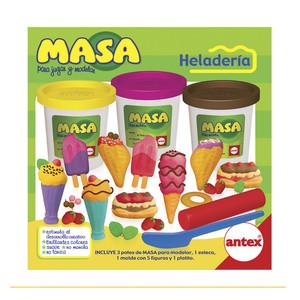 Masa Heladeria 3 Potes y Moldes con 5 Figuras
