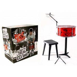 Bateria Musical Infantil First Band 1 Tambor + Banquito