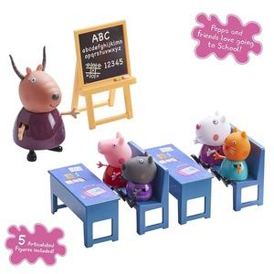 Peppa Clase de la Escuela 5 Personajes