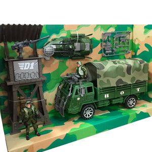 Set Militar Camion Transportador + Torre + Bote