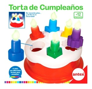 Torta De Cumpleaños Con Encastre Brilla en la Oscuridad