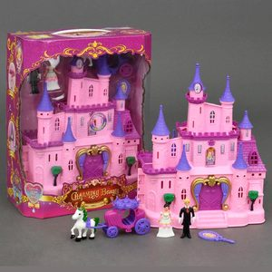 Castillo Princesa Muñecas con Luz + Carruaje + 2 Muñecos