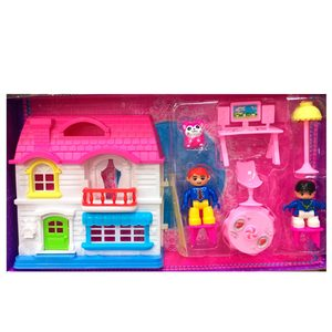 Set Casa Muñecos Encastrables +2 Personajes + Accesorios