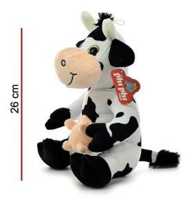 Peluche Vaca Sentada 26cm