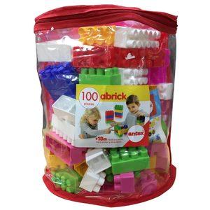 Bolson con 100 Ladrillos Rosa Bebes Niños Niñas Antex