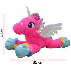 Peluche Unicornio Echado Con Alas 80 Cm