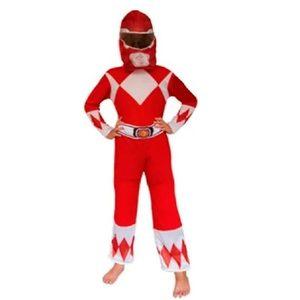 Disfraz Power Rangers Rojo Talle 2 Original