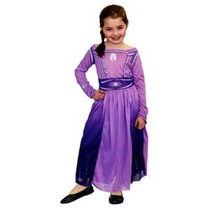 Disfraz Frozen Lila Elsa Talle 2 Licencia Original
