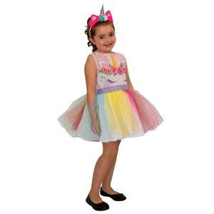 Disfraz Vestido Unicornio con Vincha Talle 0