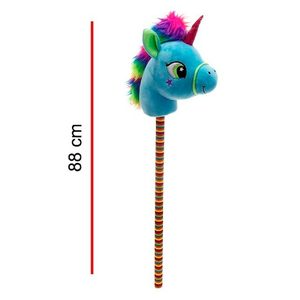 Unicornio de Peluche con Palo 88cm