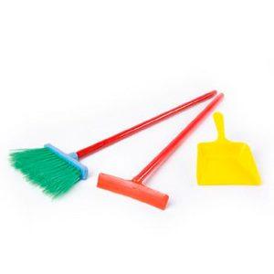 Set de Limpieza Juguete Secador, Escoba y Pala New Plast