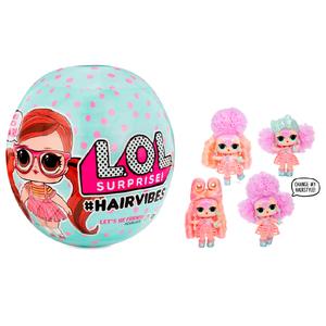 Lol Surprise #Hairvibes Pelo Real 15 Sorpresas Cambian de Color Original