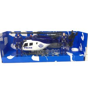 Set Policial Helicóptero 28cm + 2 Muñecos + Armas