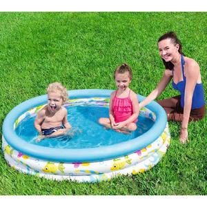 Pileta Inflable Infantil 3 Aros Fondo del Mar Bestway 1,22cm