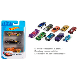 Coches Hot Wheels Pack x3