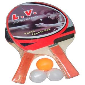 Set de Ping Pong 2 Raquetas 3 Pelotas + Red y Soporte