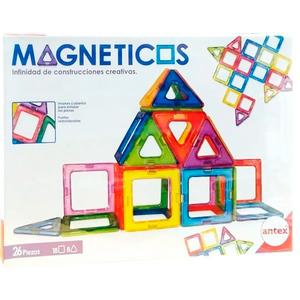 Bloques de Construcción Magneticos Tipo Magnific 26 Piezas Antex