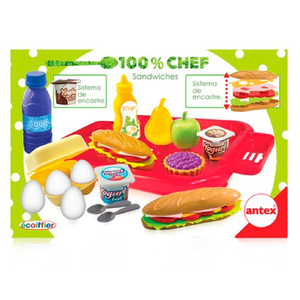 Set 100% Chef Sandwiches Antex Sistema de Encastre