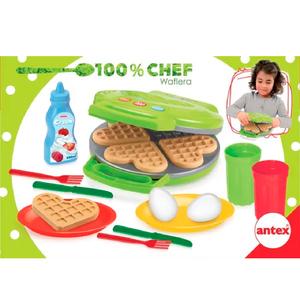 100% Chef Waflera Antex + Utensilios + Alimentos