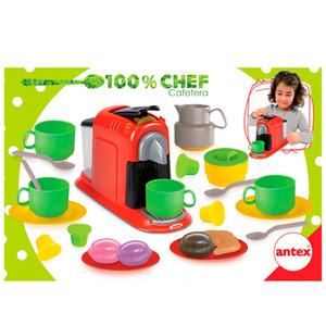 100% Chef Cafetera Antex + Utensilios