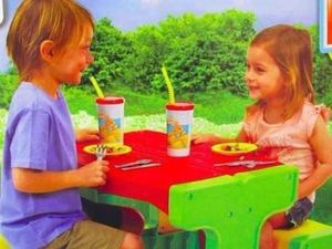 Mesa De Jardin Picnic para Niños Interior o Exterior