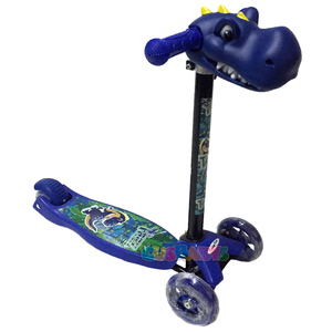 Monopatin Scooter Dino T Rex Muñeco Antivuelcos Caño