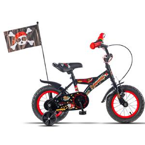 Bicicleta Aurorita Pirata Rod 12 Loro Banderin Rueditas