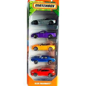 Set Autos Matchbox Pack x5