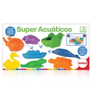 Super Acuaticos  Para jugar en el agua, guardarlo en la bolsita y colgarlo de las sopapas