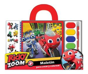 Set De Arte Ricky Zoom Personajes Maletin Acuarelas Stickers