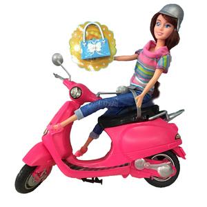 Calleigh Muñeca Moto Scooter + Accesorios