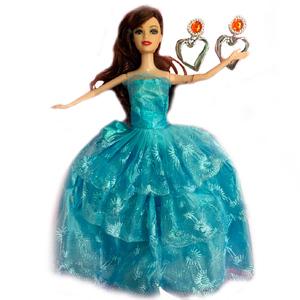 Muñeca Ariana Princesa Largo Vestido Accesorios