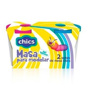 Set 2 Potes Masas Antex Chics No Toxico