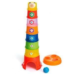 Balde Torre Apilable 2 en 1 Calesita Numeros + Pelota