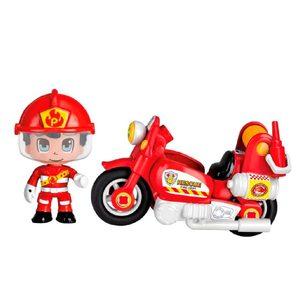 Pinypon Action Moto Bombero Personaje + Herramientas Original