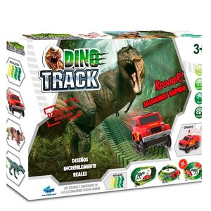 Pista Dino Flexible Track Next Point 52 Piezas 1 Auto
