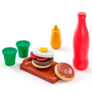 Set Hamburguesa+ Bebida+ Vasos para Cocinitas Mini Play