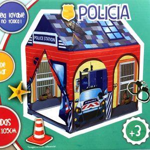 Carpa Casita de Juegos Policia 75x100x105cm