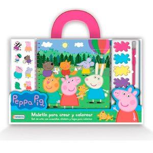 Maletín para Crear y Colorear Peppa Pig Acuarelas + Stickers